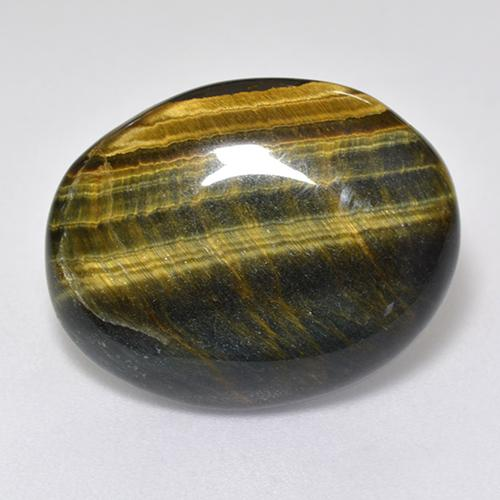 Multicolor Tiger's Eye Gem - 12.9ct Oval Cabochon (ID: 516600)
