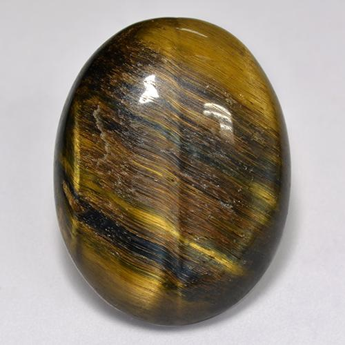 Multicolor Tiger's Eye Gem - 18.9ct Oval Cabochon (ID: 517245)