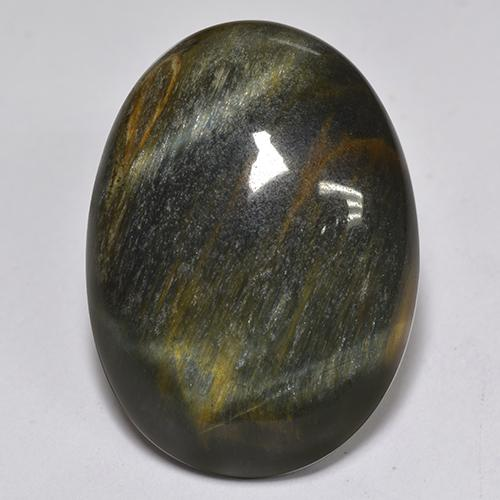 Multicolor Tiger's Eye Gem - 15.2ct Oval Cabochon (ID: 517248)