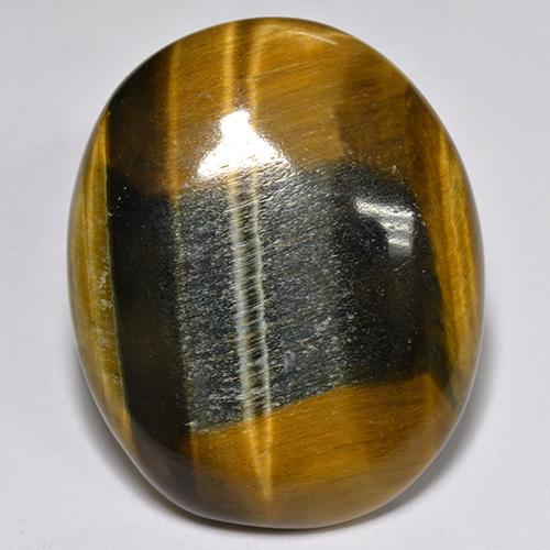 Multicolor Tiger's Eye Gem - 26.5ct Oval Cabochon (ID: 517249)
