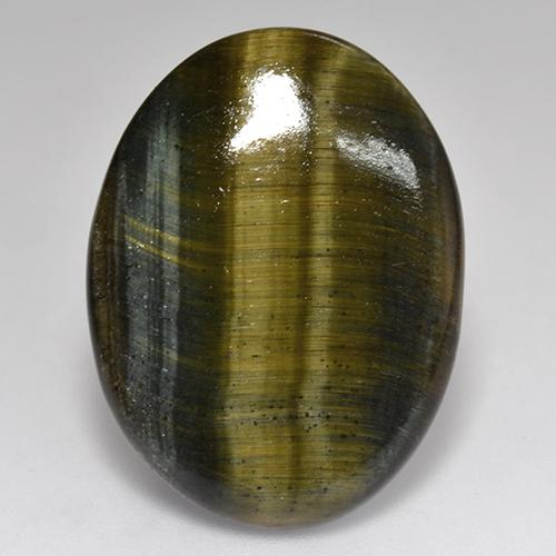Multicolor Tiger's Eye Gem - 18ct Oval Cabochon (ID: 517708)
