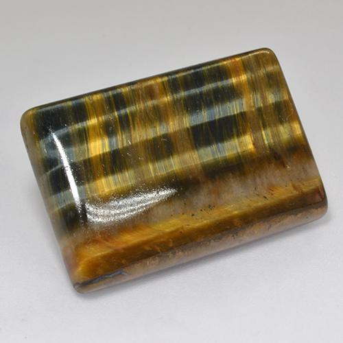 Multicolor Tiger's Eye Gem - 29.5ct Baguette Cabochon (ID: 517713)