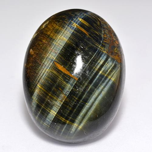 Multicolor Tiger's Eye Gem - 52.8ct Oval Cabochon (ID: 518939)