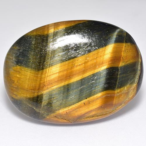 Multicolor Tiger's Eye Gem - 47.6ct Oval Cabochon (ID: 518944)