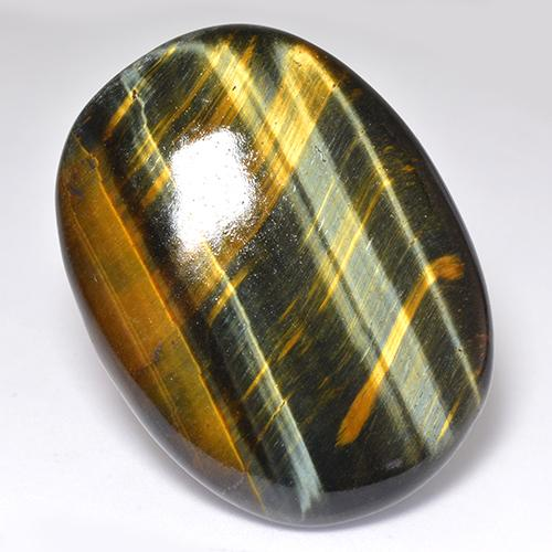 Multicolor Tiger's Eye Gem - 68.1ct Oval Cabochon (ID: 518949)