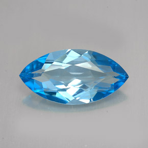 Buy 6.01 ct Swiss Blue Topaz 17.97 mm x 9.1 mm from GemSelect (Product ID: 255660)