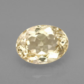 5 Carat Light Yellow Topaz Gem From Brazil Natural And