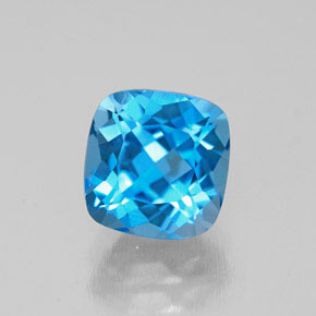 Buy 2.01 ct Swiss Blue Topaz 6.84 mm x 6.7 mm from GemSelect (Product ID: 284103)