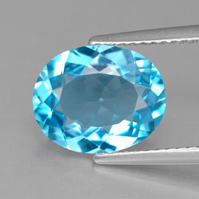 Buy 3.82 ct Swiss Blue Topaz 11.06 mm x 9 mm from GemSelect (Product ID: 292579)