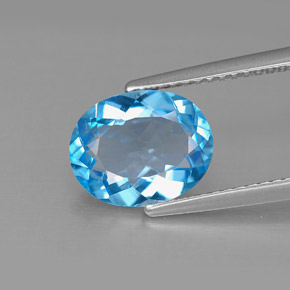 Buy 2.66 ct Swiss Blue Topaz 10.02 mm x 8.2 mm from GemSelect (Product ID: 292596)