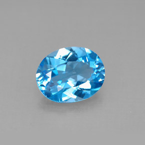 Buy 2.74ct Swiss Blue Topaz 9.92mm x 7.91mm from GemSelect (Product ID: 292597)