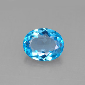Buy 3.02 ct Swiss Blue Topaz 10.02 mm x 8.1 mm from GemSelect (Product ID: 292601)