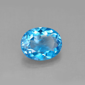 Buy 3.46 ct Swiss Blue Topaz 10.05 mm x 8.1 mm from GemSelect (Product ID: 292683)