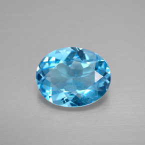 Buy 2.69 ct Swiss Blue Topaz 10.18 mm x 8.2 mm from GemSelect (Product ID: 293749)