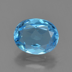 Sky Blue Topaz Gem - 2.3ct Oval Facet (ID: 294350)