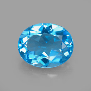 Buy 3.14 ct Swiss Blue Topaz 10.14 mm x 8.2 mm from GemSelect (Product ID: 294414)