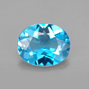 Buy 3.38 ct Swiss Blue Topaz 11.08 mm x 9 mm from GemSelect (Product ID: 294423)
