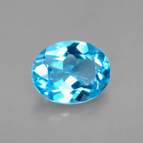 Buy 3.18 ct Swiss Blue Topaz 10.26 mm x 8.3 mm from GemSelect (Product ID: 294425)