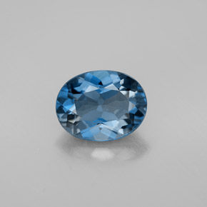 Buy 2.26 ct London Blue Topaz 9.13 mm x 7.1 mm from GemSelect (Product ID: 300954)