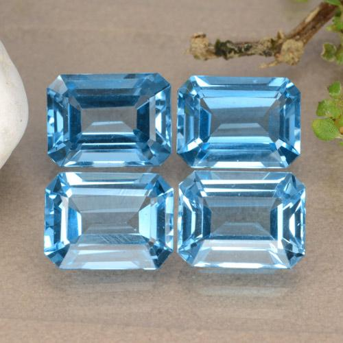 Swiss Blue Topaz Gem - 1.9ct Octagon Facet (ID: 315898)