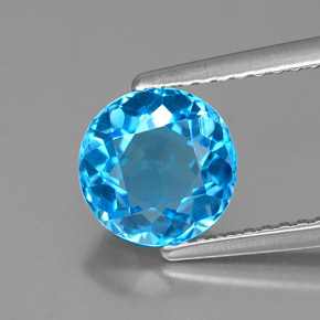 Buy 2.01 ct Swiss Blue Topaz 7.45 mm  from GemSelect (Product ID: 319151)