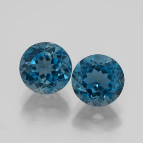 Buy 3.89 ct London Blue Topaz 7.19 mm  from GemSelect (Product ID: 320418)