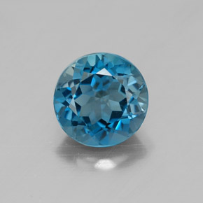 Buy 1.56 ct London Blue Topaz 6.97 mm  from GemSelect (Product ID: 320699)