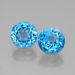 Buy 3.41 ct Swiss Blue Topaz 7.04 mm  from GemSelect (Product ID: 320938)