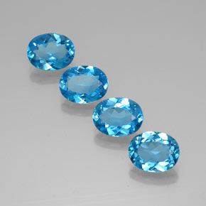 2.12 ct Oval Facet Swiss Blue Topaz Gemstone 9.09 mm x 7.1 mm (Product ID: 321641)