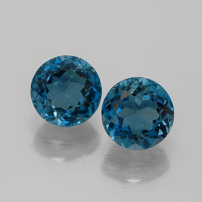 Buy 3.70 ct London Blue Topaz 7.04 mm  from GemSelect (Product ID: 322647)