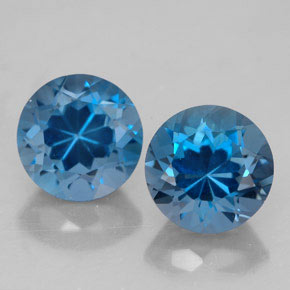 3.63 ct total Natural London Blue Topaz
