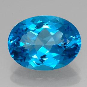 topaz 15 carat oval from brazil gemstone