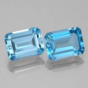 Intense Blue  Topaz Gem - 2ct Octagon Facet (ID: 334580)