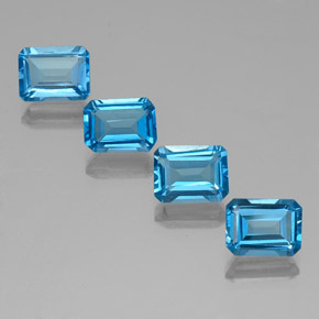 Swiss Blue Topaz Gem - 2ct Octagon Facet (ID: 334687)