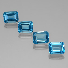Swiss Blue Topaz Gem - 2ct Octagon Facet (ID: 334688)
