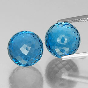Swiss Blue Topaz Gem - 6.5ct Spherical (ID: 337565)
