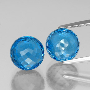 Swiss Blue Topaz Gem - 6.9ct Spherical (ID: 337596)