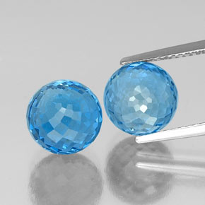 Swiss Blue Topaz Gem - 6.3ct Spherical (ID: 337615)