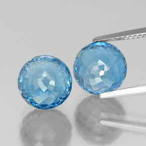 Swiss Blue Topaz Gem - 6.7ct Spherical (ID: 337623)