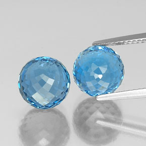 Swiss Blue Topaz Gem - 6.1ct Spherical (ID: 337625)