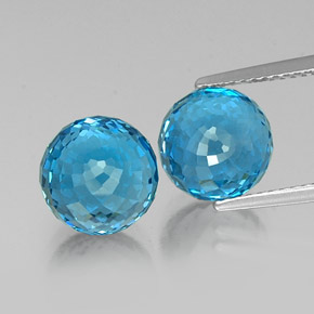 Swiss Blue Topaz Gem - 6.8ct Spherical (ID: 337651)