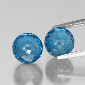 Swiss Blue Topaz Gem - 4.2ct Spherical (ID: 338403)