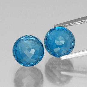 Swiss Blue Topaz Gem - 4.3ct Spherical (ID: 338468)