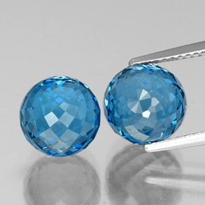Swiss Blue Topaz Gem - 5.9ct Spherical (ID: 338531)