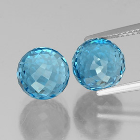 Deep Azure Blue Topaz Gem - 5.1ct Spherical (ID: 338548)