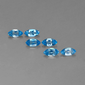 Swiss Blue Topaz Gem - 0.5ct Marquise Facet (ID: 338958)