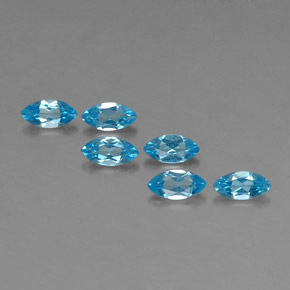Swiss Blue Topaz Gem - 0.4ct Marquise Facet (ID: 339199)