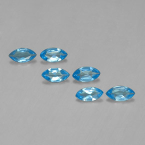 Swiss Blue Topaz Gem - 0.4ct Marquise Facet (ID: 339422)