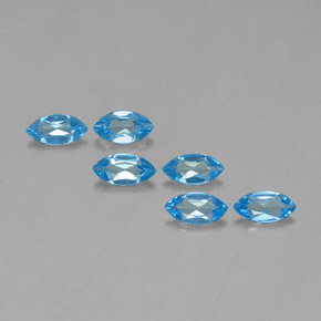 Swiss Blue Topaz Gem - 0.4ct Marquise Facet (ID: 339425)
