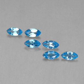 Swiss Blue Topaz Gem - 0.4ct Marquise Facet (ID: 339530)